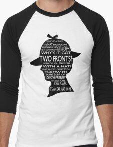 Sherlock's Hat Rant - Light Men's Baseball ¾ T-Shirt