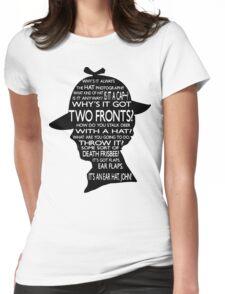 Sherlock's Hat Rant - Light Womens Fitted T-Shirt