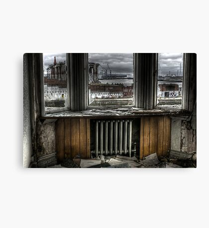 Pipe and platform Canvas Print