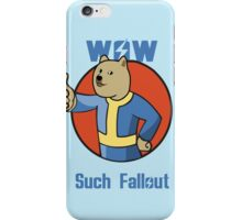 Wow Such Fallout iPhone Case/Skin