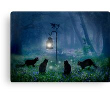 The Witches Cats Canvas Print