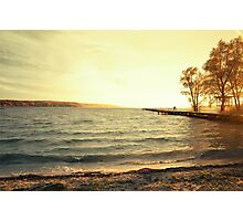 landing stage in sunset Photographic Print
