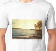 landing stage in sunset Unisex T-Shirt
