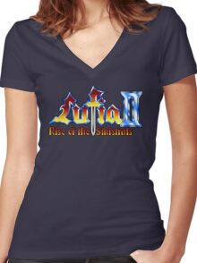 Lufia 2 (SNES) Title Screen Women's Fitted V-Neck T-Shirt