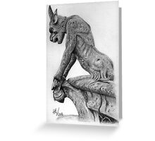 Notre Dame Gargoyle 2 Greeting Card