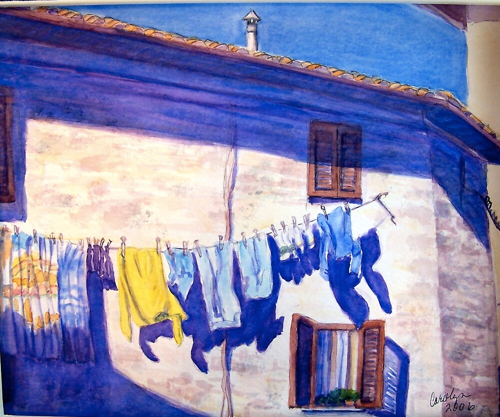 Washday in Tuscany by Carolyn Bishop