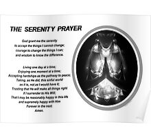 The Serenity Prayer 3 (for light colors) Poster