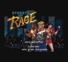 Streets of Rage (Genesis) Title Screen by AvalancheShirts