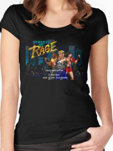 Streets of Rage (Genesis) Title Screen Women's Fitted Scoop T-Shirt