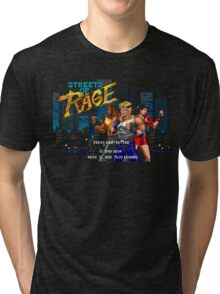 Streets of Rage (Genesis) Title Screen Tri-blend T-Shirt