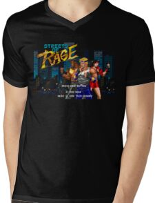 Streets of Rage (Genesis) Title Screen Mens V-Neck T-Shirt