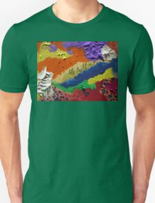 Alberta Canada abstract collage Unisex T-Shirt