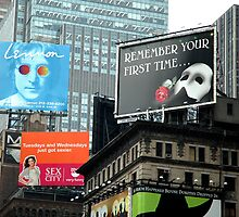 Billboards in Time Square by risingstar