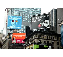 Billboards in Time Square Photographic Print
