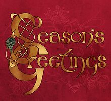 Season's Greetings Christmas Card by Catie Atkinson