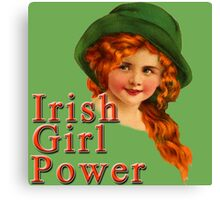 Red Headed IRISH Girl Power Canvas Print