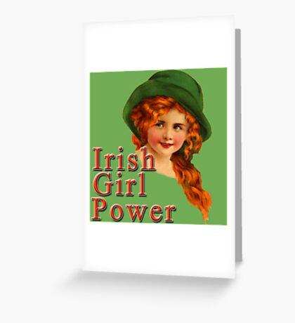 Red Headed IRISH Girl Power Greeting Card