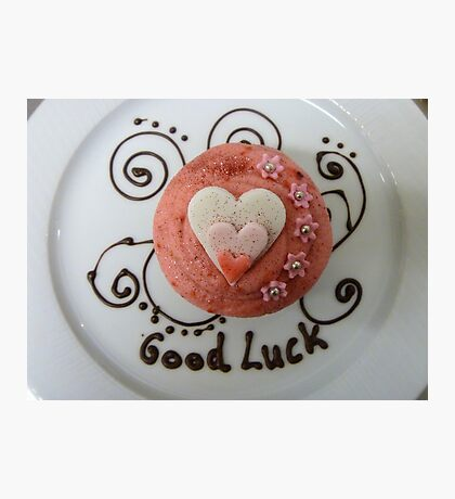 Good Luck!! - Cupcake By Haydene - NZ Photographic Print