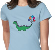 Whimsical Dino Womens Fitted T-Shirt