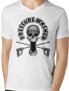 Pressure Washer Skull Mens V-Neck T-Shirt