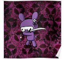 Girly Ninja Bunny Poster