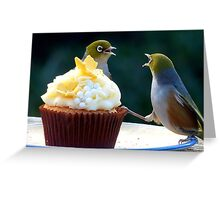 WHAT!! I'm Only Holding The Cupcake Up! - Silver-Eyes  Greeting Card