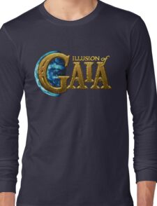 Illusion of Gaia (SNES) Title Screen Long Sleeve T-Shirt