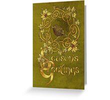 Robin Wreath Celtic Christmas Card Greeting Card
