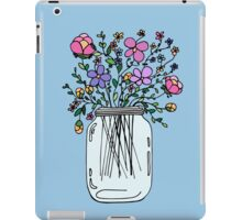 Mason Jar with Flowers iPad Case/Skin