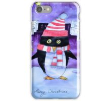 Christmas penguin iPhone Case/Skin