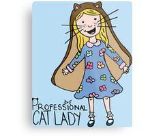 Professional Cat Lady Metal Print