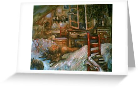 The Studio & Spirits Dream, First Detail by Barbara Sparhawk