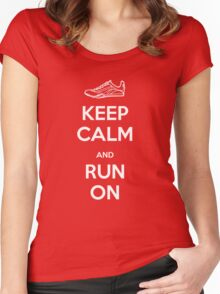 Keep Calm and Run On Women's Fitted Scoop T-Shirt