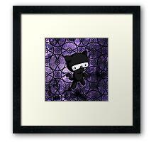 Ninja Kitty Framed Print