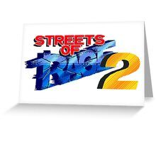 Streets of Rage 2 (Genesis) Title Screen Greeting Card