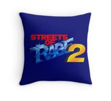 Streets of Rage 2 (Genesis) Title Screen Throw Pillow