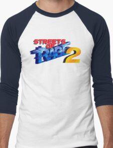 Streets of Rage 2 (Genesis) Title Screen Men's Baseball ¾ T-Shirt