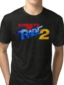Streets of Rage 2 (Genesis) Title Screen Tri-blend T-Shirt