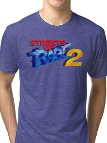 Streets of Rage 2 (Genesis) Title Screen Tri-blend T-Shirt