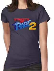Streets of Rage 2 (Genesis) Title Screen Womens Fitted T-Shirt