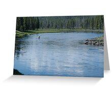 Flyfishing in Wyoming Greeting Card