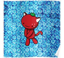 Strawberry Kitty Poster