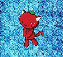 Strawberry Kitty by fushiginaringo