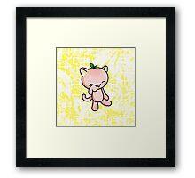 Peach Kitty Framed Print