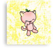 Peach Kitty Canvas Print