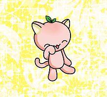 Peach Kitty by fushiginaringo