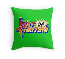 Art of Fighting (Arcade) Title Screen Throw Pillow