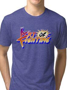 Art of Fighting (Arcade) Title Screen Tri-blend T-Shirt