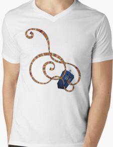 Time Scarf Mens V-Neck T-Shirt