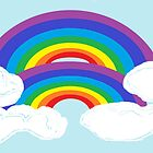 A Stylized Double Rainbow by Jana Gilmore
